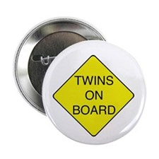 "Twins on Board 2.25"" Button"