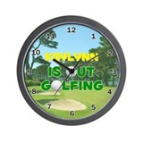 Kaylynn is Out Golfing - Wall Clock