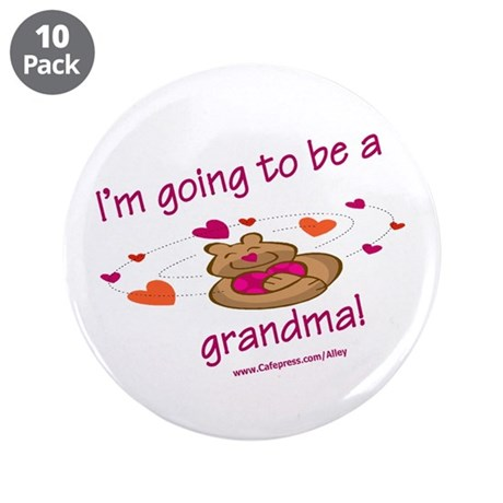 "Grandma 2 Be (bear) 3.5"" Button (10 pack)"