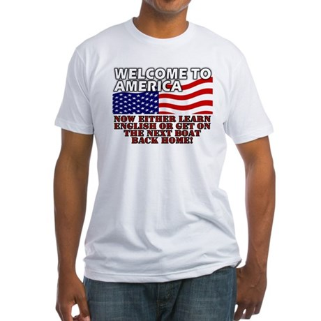 Welcome to America Fitted T-Shirt
