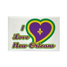I Love New Orleans Rectangle Magnet