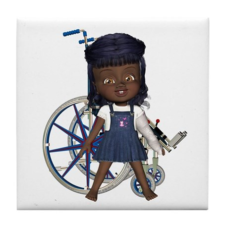 Katy Broken Left Arm Tile Coaster