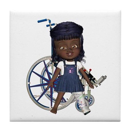 Katy Broken Left Leg Tile Coaster