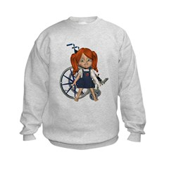 Kit Broken Left Arm Kids Sweatshirt