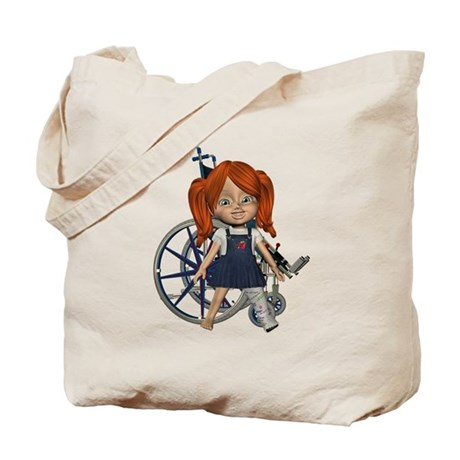 Kit Broken Left Leg Tote Bag