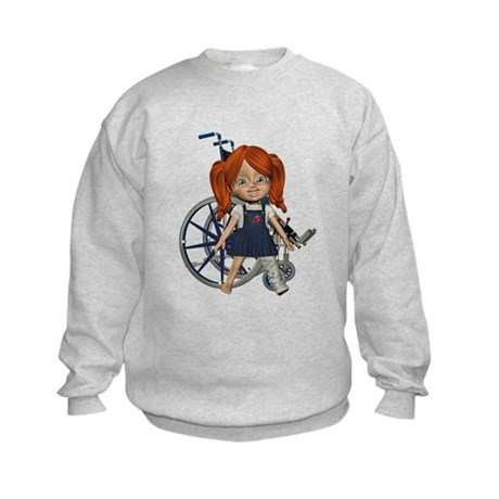 Kit Broken Left Leg Kids Sweatshirt