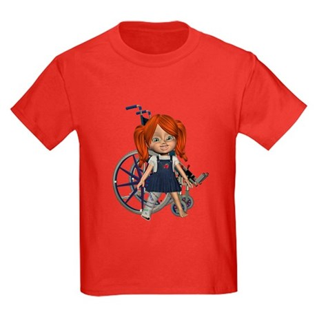 Kit Broken Right Leg Kids Dark T-Shirt