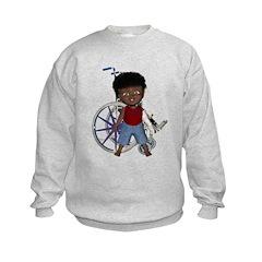 Keith Broken Left Arm Kids Sweatshirt