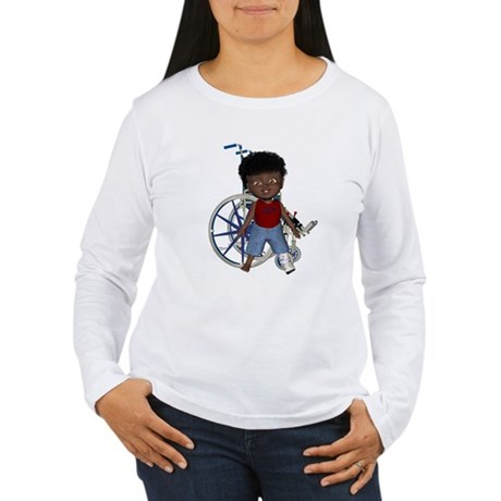 Keith Broken Left Leg Women's Long Sleeve T-Shirt