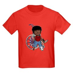 Keith Broken Left Leg Kids Dark T-Shirt
