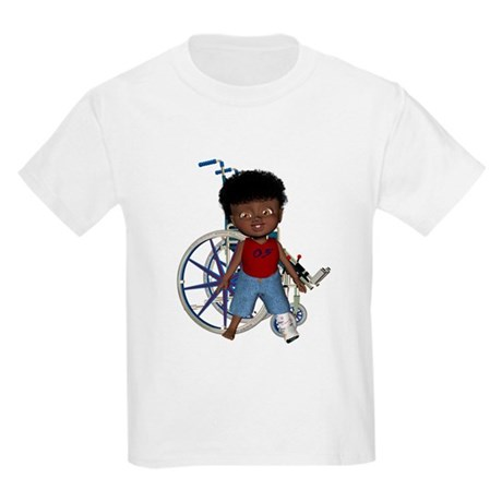 Keith Broken Left Leg Kids Light T-Shirt