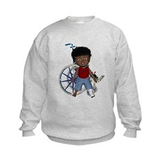 Keith Broken Left Leg Kids Sweatshirt