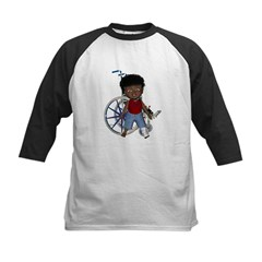 Keith Broken Left Leg Kids Baseball Jersey
