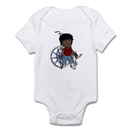Keith Broken Left Leg Infant Bodysuit