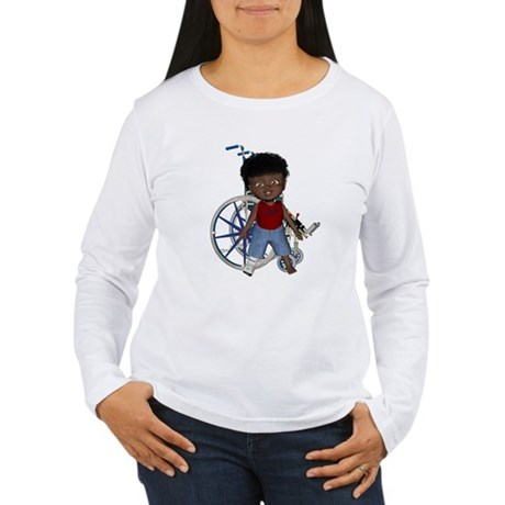 Keith Broken Right Leg Women's Long Sleeve T-Shirt