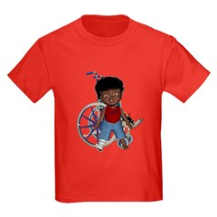 Keith Broken Right Leg Kids Dark T-Shirt