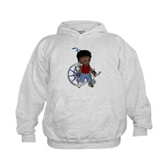 Keith Broken Right Leg Kids Hoodie