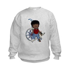 Keith Broken Right Leg Kids Sweatshirt