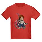 Kevin Broken Left Arm Kids Dark T-Shirt