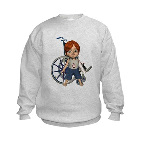 Kevin Broken Left Arm Kids Sweatshirt