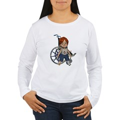 Kevin Broken Left Leg Women's Long Sleeve T-Shirt