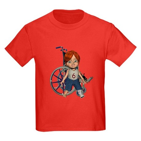 Kevin Broken Left Leg Kids Dark T-Shirt