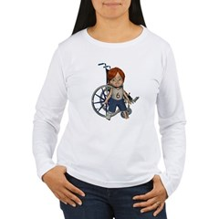 Kevin Broken Right Leg Women's Long Sleeve T-Shirt