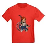 Kevin Broken Right Leg Kids Dark T-Shirt