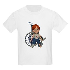 Kevin Broken Right Leg Kids Light T-Shirt