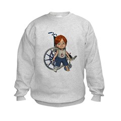 Kevin Broken Right Leg Kids Sweatshirt