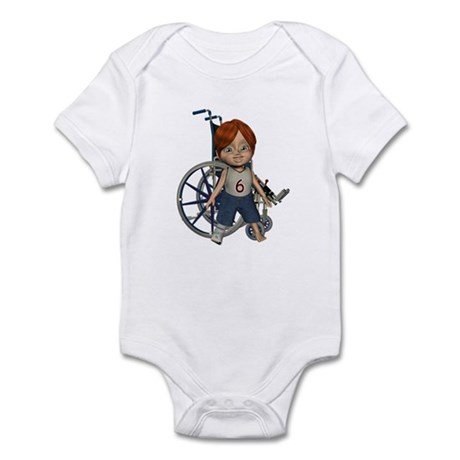 Kevin Broken Right Leg Infant Bodysuit