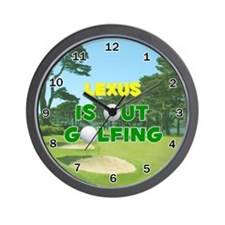 Lexus is Out Golfing - Wall Clock