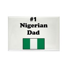 #1 Nigerian Dad Rectangle Magnet