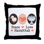 Peace Love Hanukkah Chanukah Throw Pillow