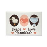 Peace Love Hanukkah Chanukah Rectangle Magnet