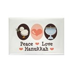 Peace Love Hanukkah Chanukah Rectangle Magnet (10