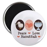 Peace Love Hanukkah Chanukah Magnet