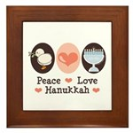 Peace Love Hanukkah Chanukah Framed Tile