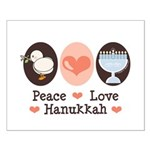 Peace Love Hanukkah Chanukah Small Poster