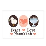 Peace Love Hanukkah Chanukah Postcards (Package of