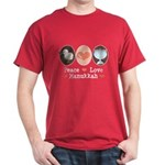 Peace Love Hanukkah Chanukah Dark T-Shirt