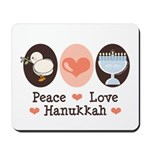 Peace Love Hanukkah Chanukah Mousepad