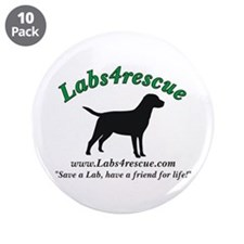 "Labs4rescue 3.5"" Button (10 pack)"