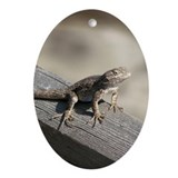 Helaine's Lizard Oval Ornament