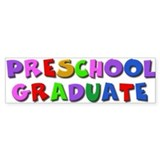 Preschool graduate Bumper Car Sticker