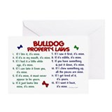 Bulldog Property Laws 2 Greeting Card