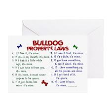 Bulldog Property Laws 2 Greeting Card