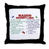 Bulldog Property Laws 2 Throw Pillow