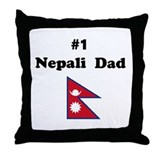 #1 Nepal Dad Throw Pillow