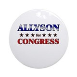 ALLYSON for congress Ornament (Round)